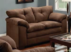 simmons sofa and loveseat simmons brown microfiber sofa and loveseat set