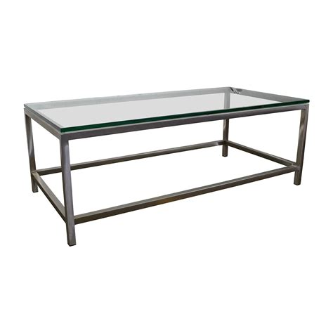 crate barrel coffee table 63 crate and barrel crate barrel era rectangular