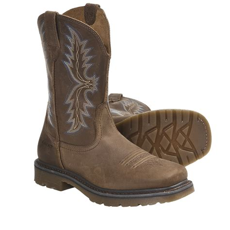 Boots Hitam Leather Grain Size 35 ariat rambler work cowboy boots for 5331u save 35