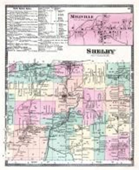 Niagara and Orleans County 1875 New York Historical Atlas Shelby County Ny