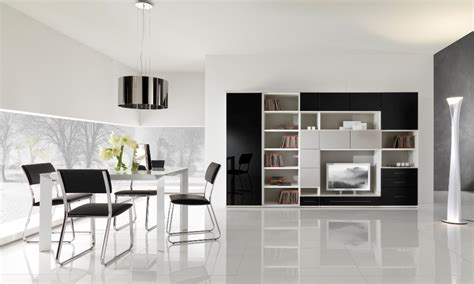 Modern Black And White Furniture For Living Room From White Living Room Tables