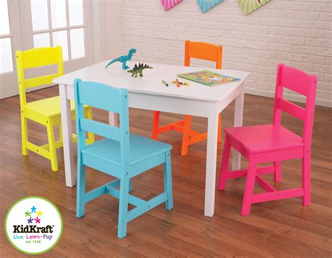 steps table with storage and 4 chairs set espresso kidkraft highlighter table 4 chair set by oj commerce