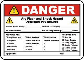 Arc Flash Labels Arc Flash Warning Labels Nfpa 70e Compliant Arc Flash Label Template