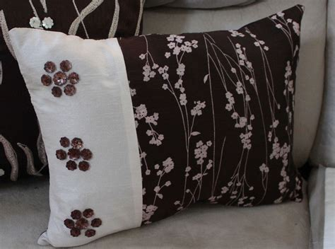 accent pillows for bed brown flowered pillow cover shell coral decorator sofa bed