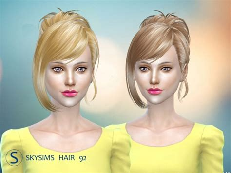 Butterfly Sims Hair Sims 4 | skysims hair 092 pay at butterfly sims 187 sims 4 updates