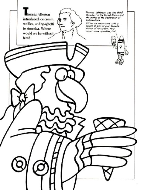 thomas jefferson coloring pages for preschoolers coloring