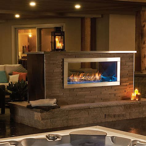 2 Sided Gas Fireplace by See Thru Gas Fireplace Decked Out Home And Patio