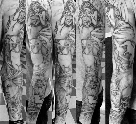 half sleeve tattoos designs black and grey electric tattoos misc artwork black grey sleeve