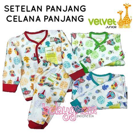 Piyama Velvet Junior Baju Velvet setelan baju tidur piyama panjang velvet junior newborn
