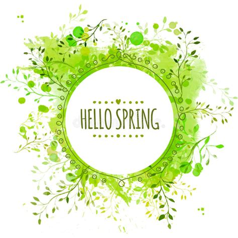17 best images about decor greens of spring on pinterest green colors search and light table white doodle circle frame with text hello spring green