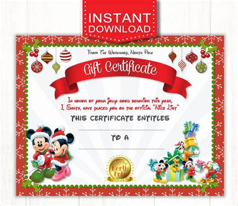 vacation gift card template vacation gift certificate template fresh disney world t