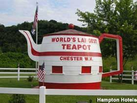 worlds biggest virginia the world s largest teapot in chester west virginia
