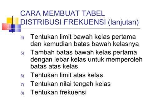 membuat tabel distribusi frekuensi relatif cara membuat tabel distribusi frekuensi absolut