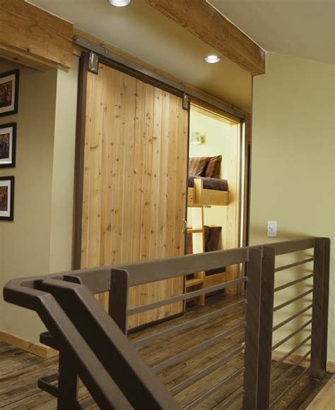 Guest Bunk Beds Concealed By A Barn Door Home Sweet Home Barn Door Bunk Beds