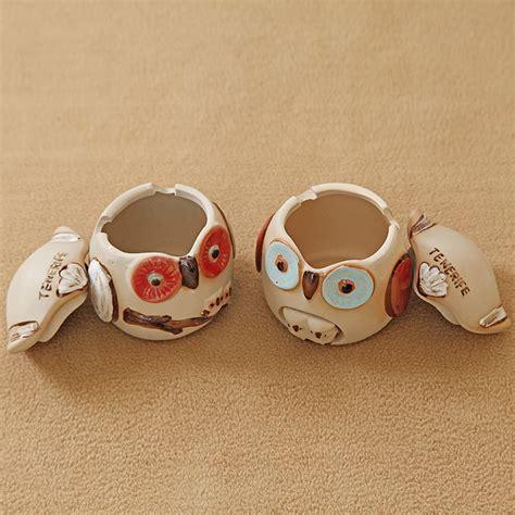 ceramic home decoration home decoration ceramic ashtray owl figurines