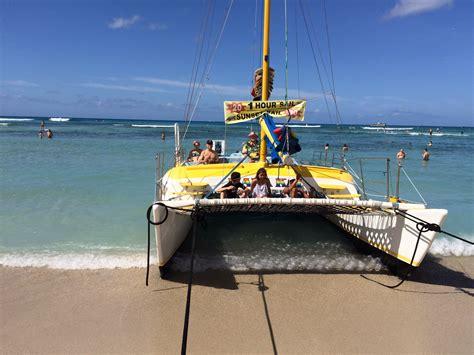 catamaran on waikiki beach polynesian cultural center all things good