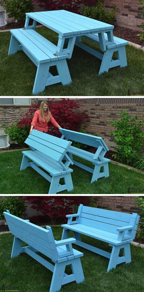 4 picnic table 10 creative diys for your yard 4 picnic table bench