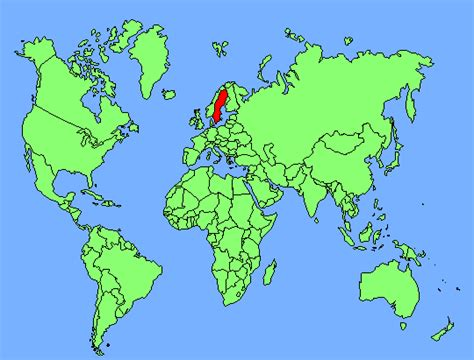 sweden on a world map sweden map of the world images