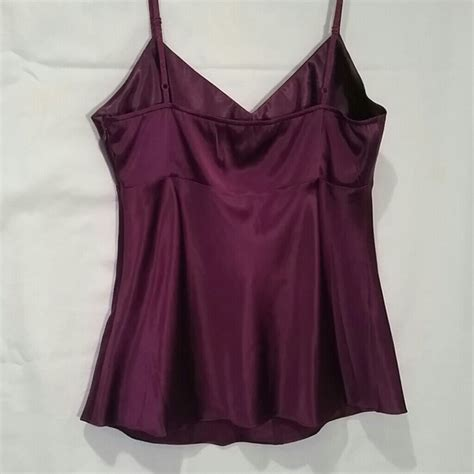 59 express tops wine colored satin tank nwt from