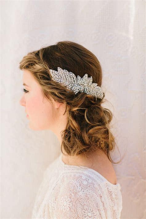 beaded bridal headpiece fascinator beaded wedding headpiece by