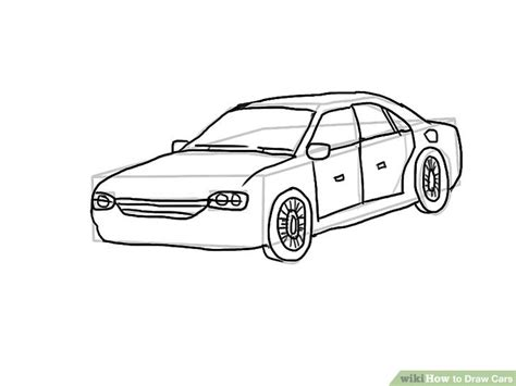 car drawing 4 easy ways to draw cars with pictures wikihow