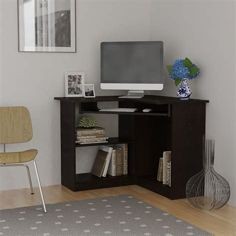 small black corner computer desk corner computer desk great for college or space
