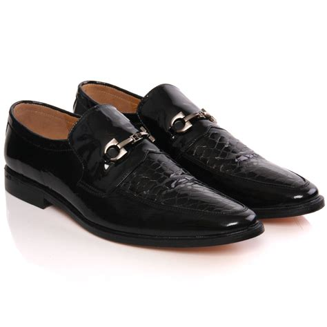 unze mens kande leather slipons dress formal shoes