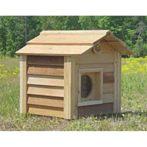 Outdoor Cat Houses by 17 Inch Cedar Cat House