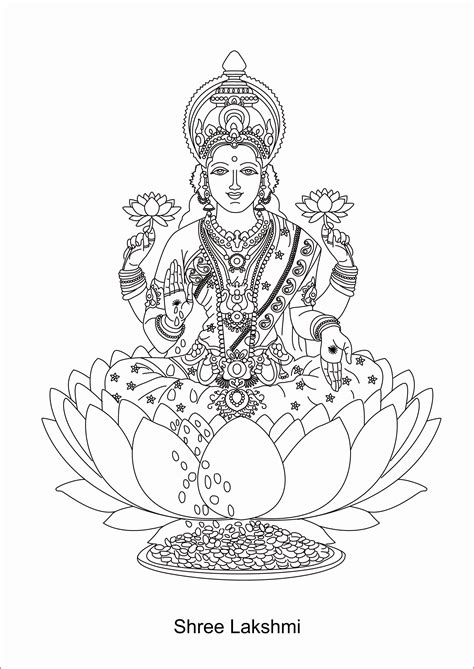 lakshmi and ganesha colouring pages