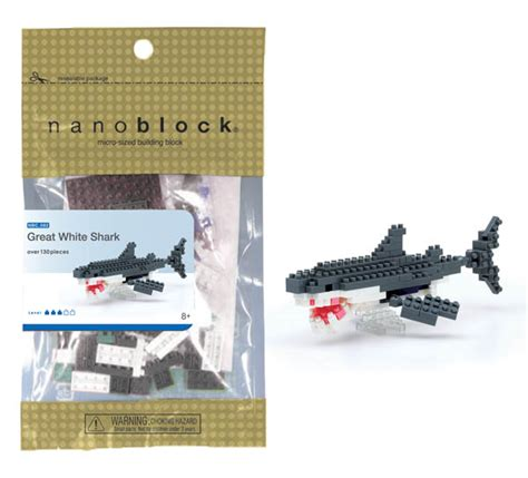 Nanoblock Great White Shark nanoblock great white shark 028120 details rainbow