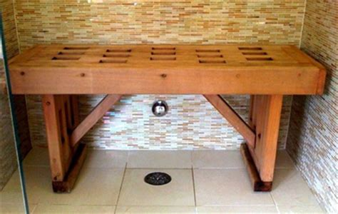 wooden shower bench wood shower benches top tips to care for them household guardians