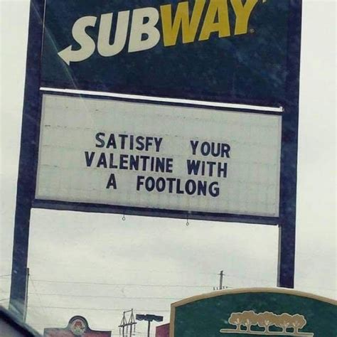 funny valentines day subway sign