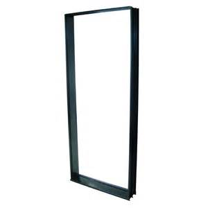 Entry Door And Frame Polar 2040 X 820mm Black Aluminium Entry Door Frame