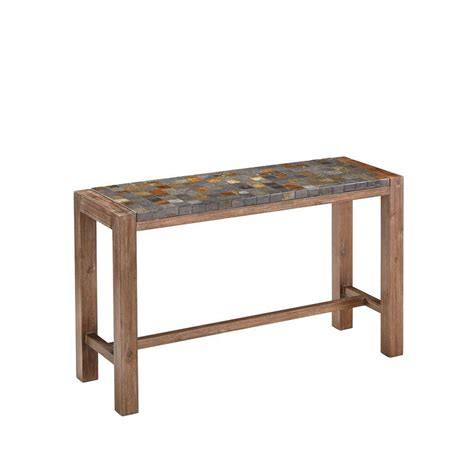 Outdoor Console Table With Storage Home Styles Morocco Indoor Outdoor Patio Console Table With Slate Top 5601 22 The Home Depot