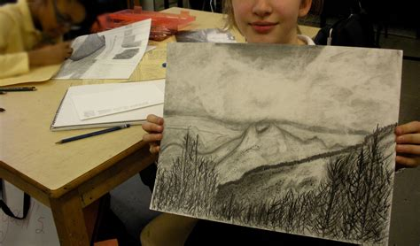Drawing 6 Class by Studio With Ms Hopenwasser Grade 6 Landscape