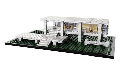 lego house ludwig mies van der rohe farnsworth house in lego modern design by moderndesign org