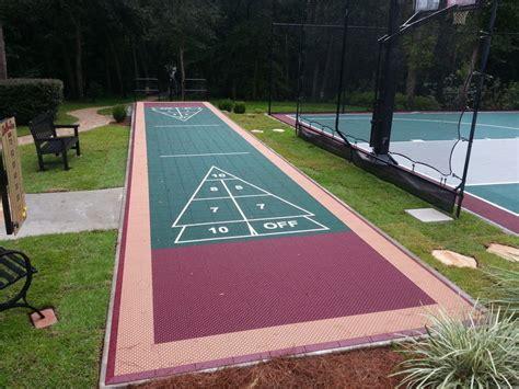 backyard shuffleboard court onelawn of san francisco game courts