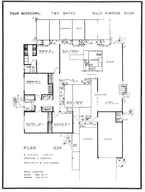joseph eichler floor plans eichler home