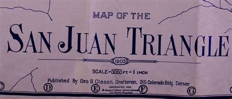 across the san juan mountains classic reprint books map of the san juan triangle colorado 1903 by george s