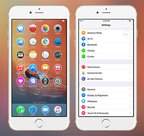 themes for icons on iphone 10 best iphone themes for ios 9 redmond pie