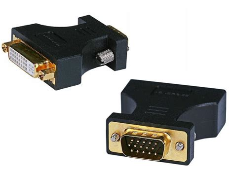 Terlaris Connector Converter Dvi Port To Vga Port hdmi dual link dvi a dvi i port to vga hd15 adapter gold plated was listed for