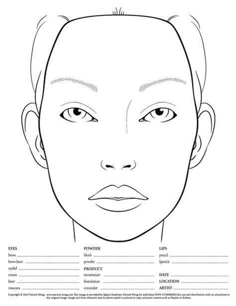 makeup design template makeup charts