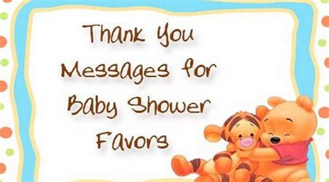 Baby Shower Favor Thank You Messages thank you messages for baby shower favors