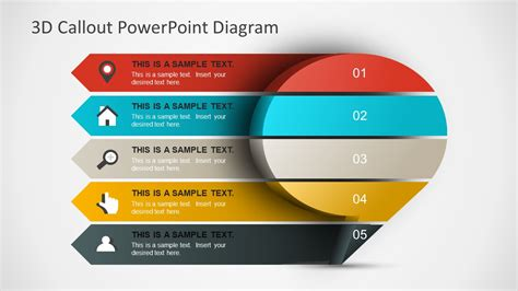 3d Callout Powerpoint Diagram Slidemodel Powerpoint Templates 3d