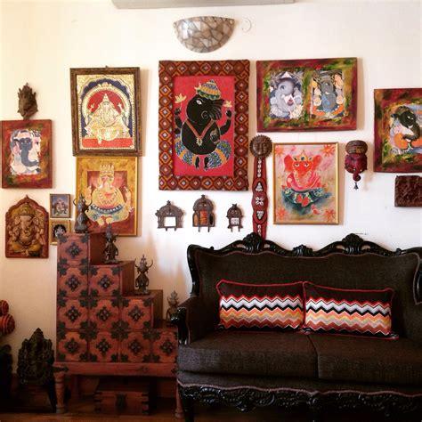 ganesh gallery wall   living room indian wall