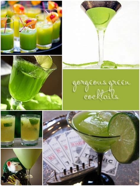 signature drinks for your wedding by color green st
