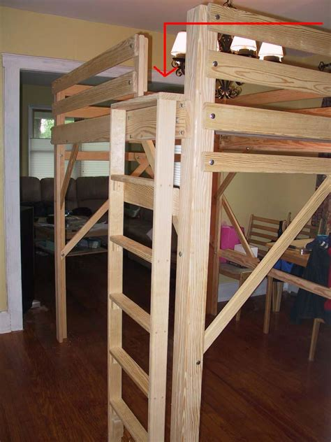 bunk bed ladder loft bed king loft beds