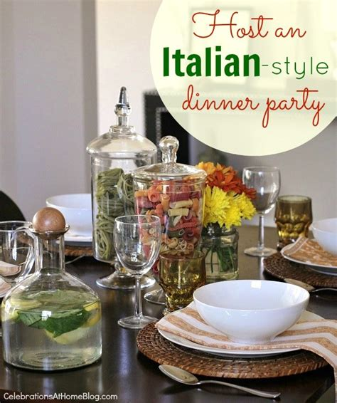 dinner theme entertaining italian themed dinner ideas