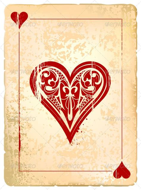 cards of hearts template ace of hearts cards card templates and cards