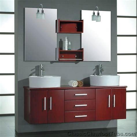 wall mounted bathroom vanity set w double sinks amp mirrors